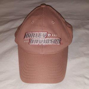 Ladies Blush Pink Harley Davidson Baseball Hat OS